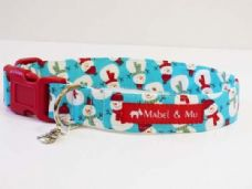 Mabel & Mu Dog Collar - Let it Snow - from